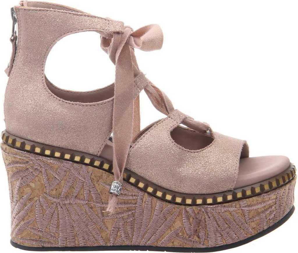 Women's OTBT Kentucky Gladiator Sandal, Copper Metallic Suede, large, image 2