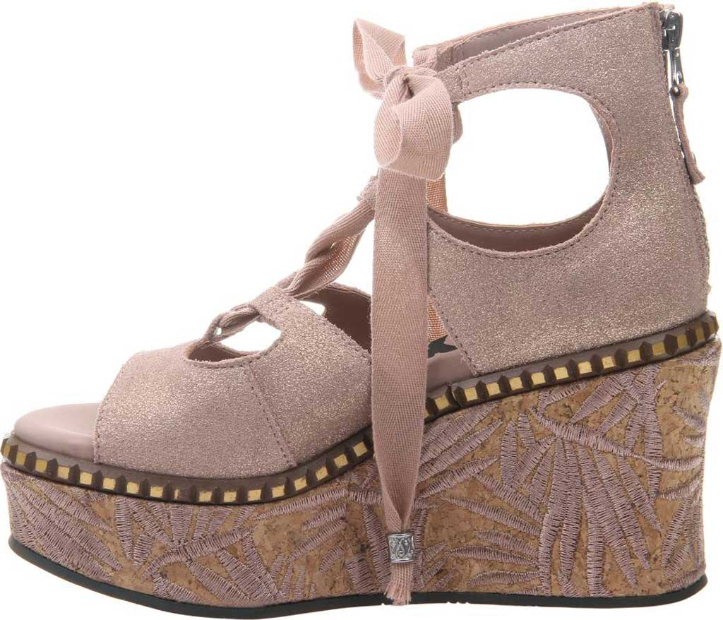 Women's OTBT Kentucky Gladiator Sandal, Copper Metallic Suede, large, image 3