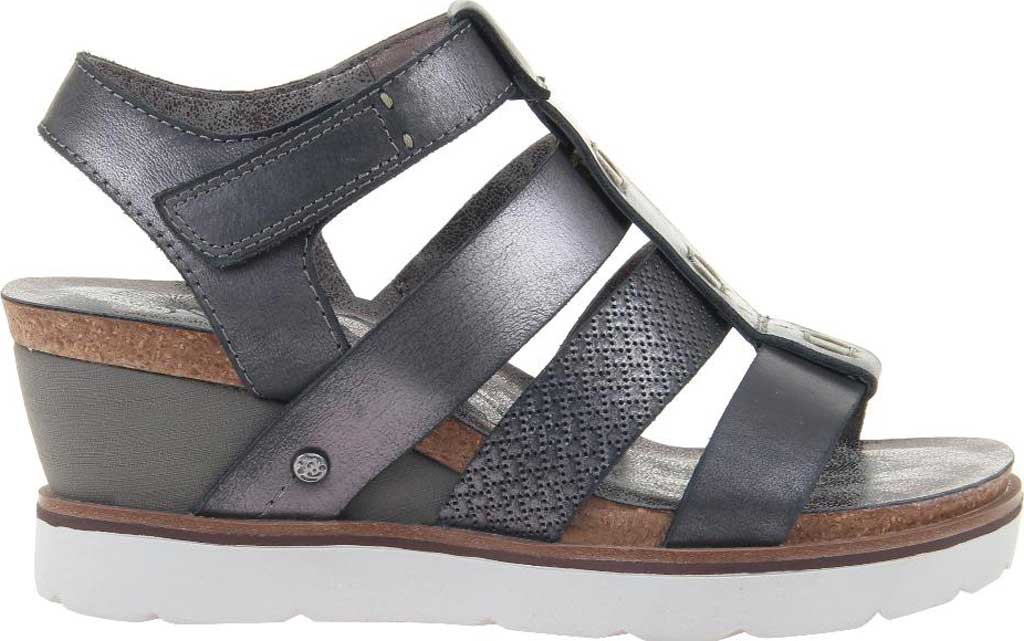 Women's OTBT New Moon Gladiator Sandal, New Black Metallic Textured Leather, large, image 2