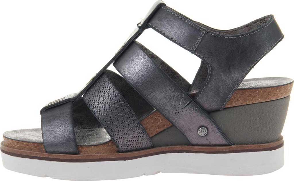 Women's OTBT New Moon Gladiator Sandal, New Black Metallic Textured Leather, large, image 3