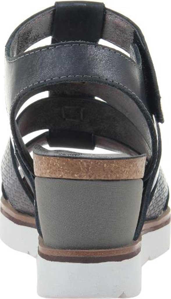 Women's OTBT New Moon Gladiator Sandal, New Black Metallic Textured Leather, large, image 4