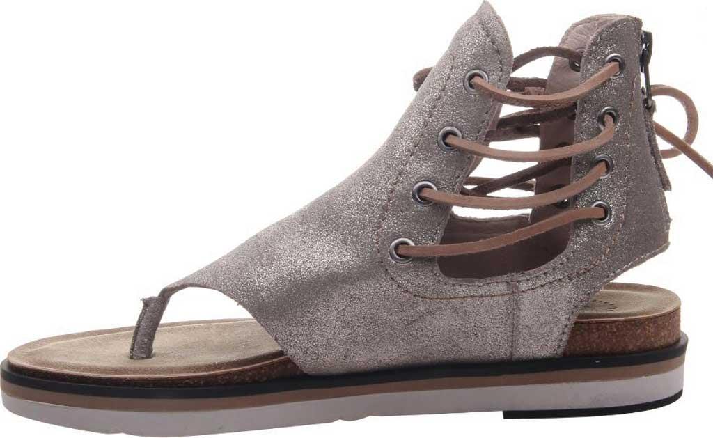 Women's OTBT Locate Thong Sandal, Grey/Silver Metallic Genuine Leather, large, image 3