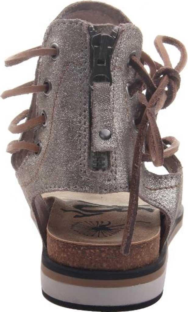 Women's OTBT Locate Thong Sandal, Grey/Silver Metallic Genuine Leather, large, image 4
