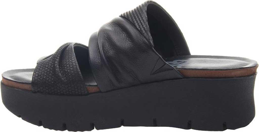 Women's OTBT Weekend Platform Slide, Black Leather, large, image 3