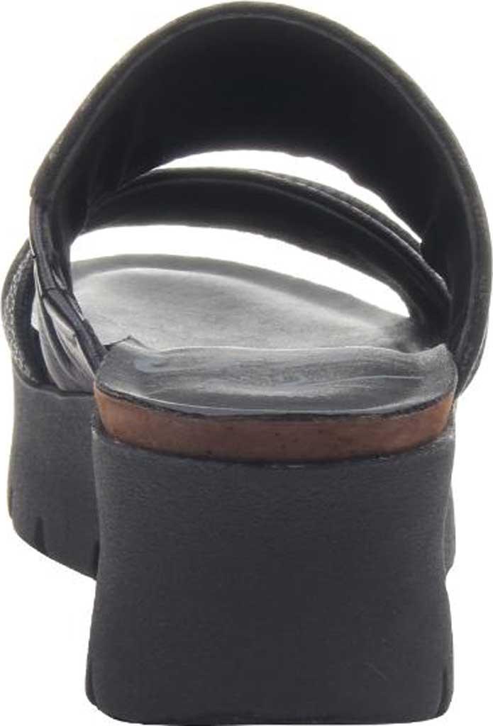 Women's OTBT Weekend Platform Slide, Black Leather, large, image 4