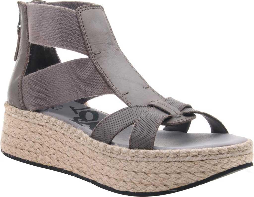 Women's OTBT Cannonball Gladiator Sandal, Zinc Leather/Textile, large, image 1