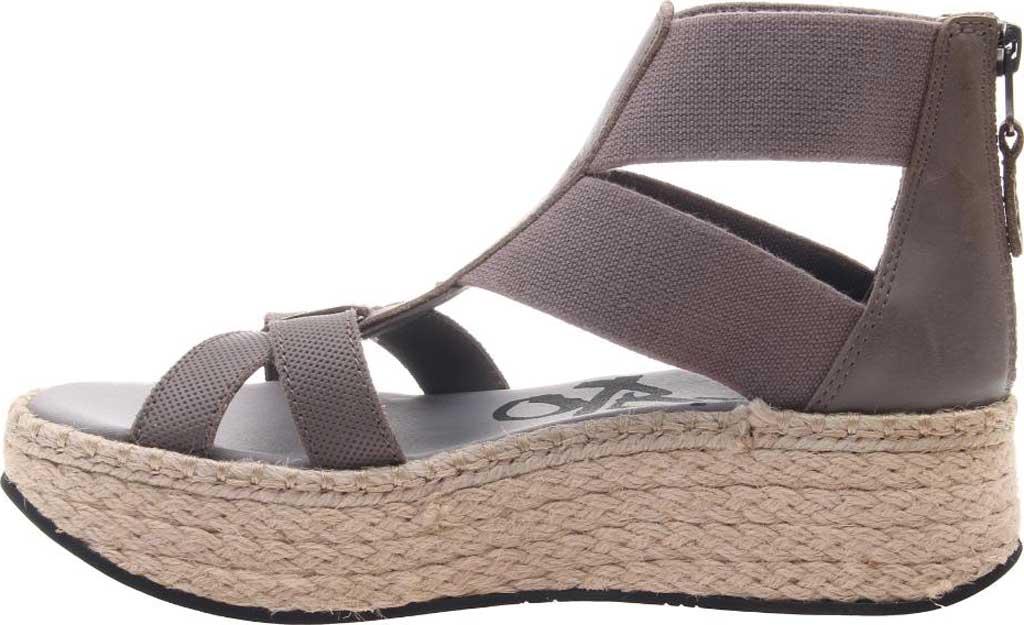Women's OTBT Cannonball Gladiator Sandal, Zinc Leather/Textile, large, image 3