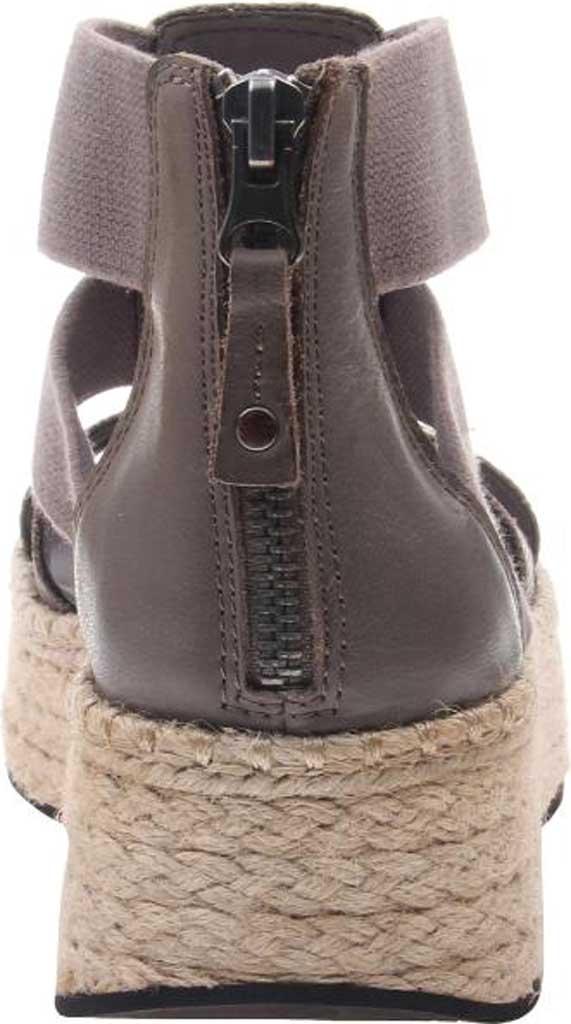 Women's OTBT Cannonball Gladiator Sandal, Zinc Leather/Textile, large, image 4