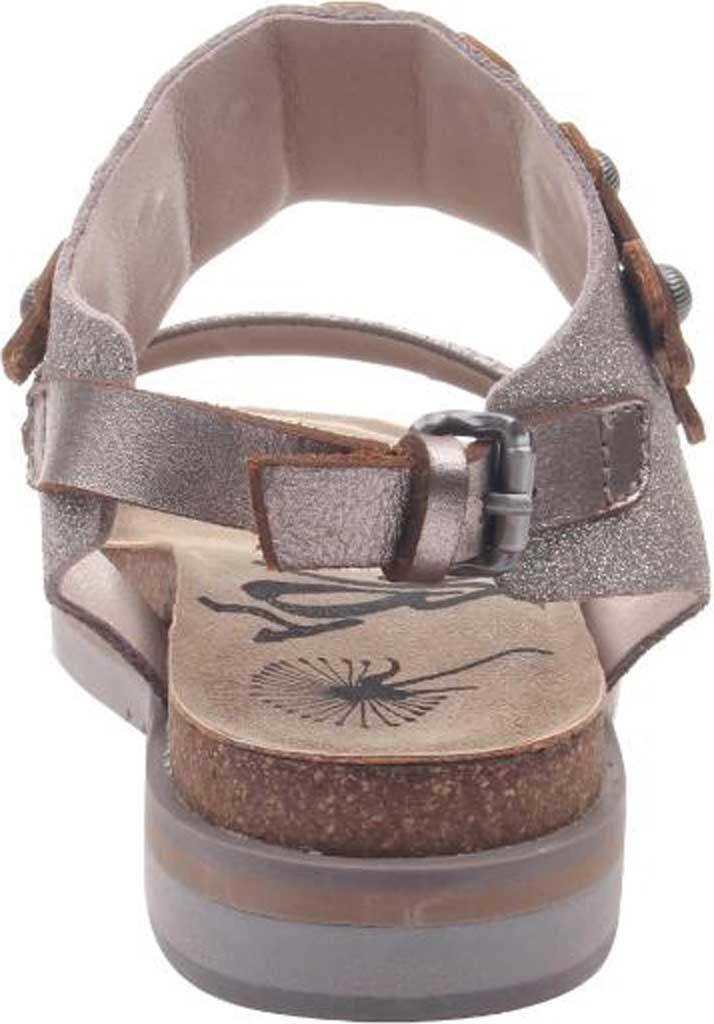 Women's OTBT Lantern Studded Sandal, Metallic Silver Embossed Leather, large, image 4