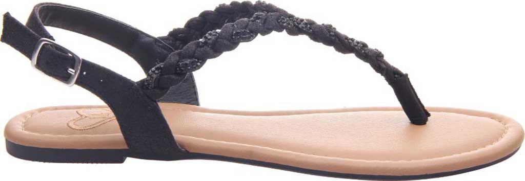 Women's Madeline Charge Braided Thong Sandal, Black Textile, large, image 2