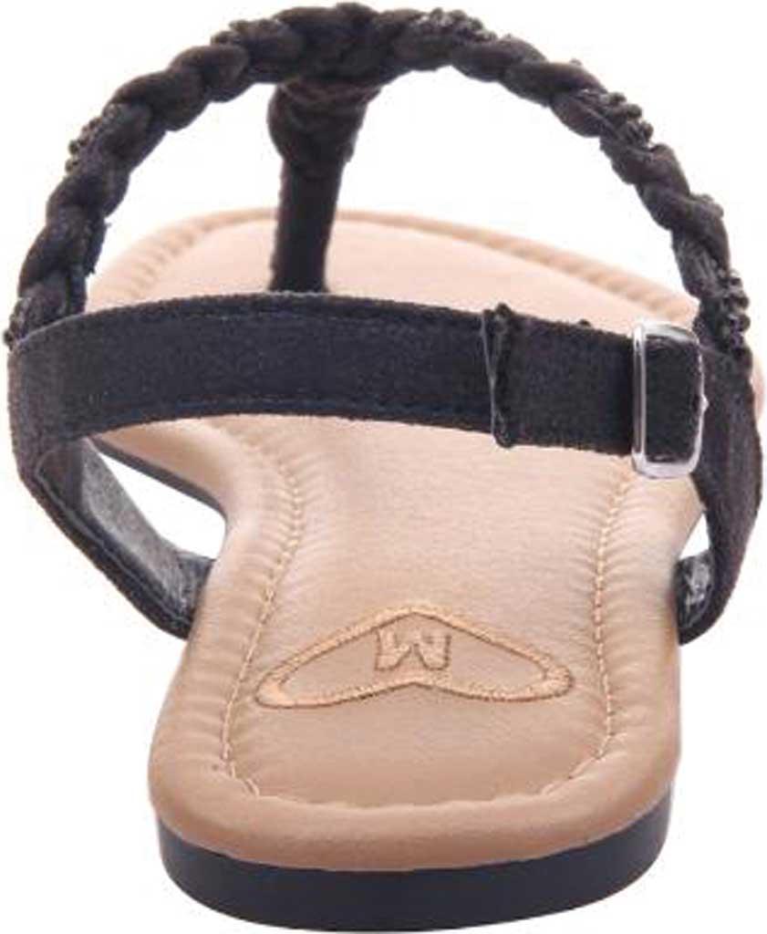 Women's Madeline Charge Braided Thong Sandal, Black Textile, large, image 4