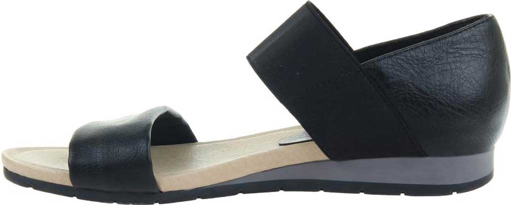 Women's Madeline Motto Double Strap Sandal, Black Synthetic/Textile, large, image 3