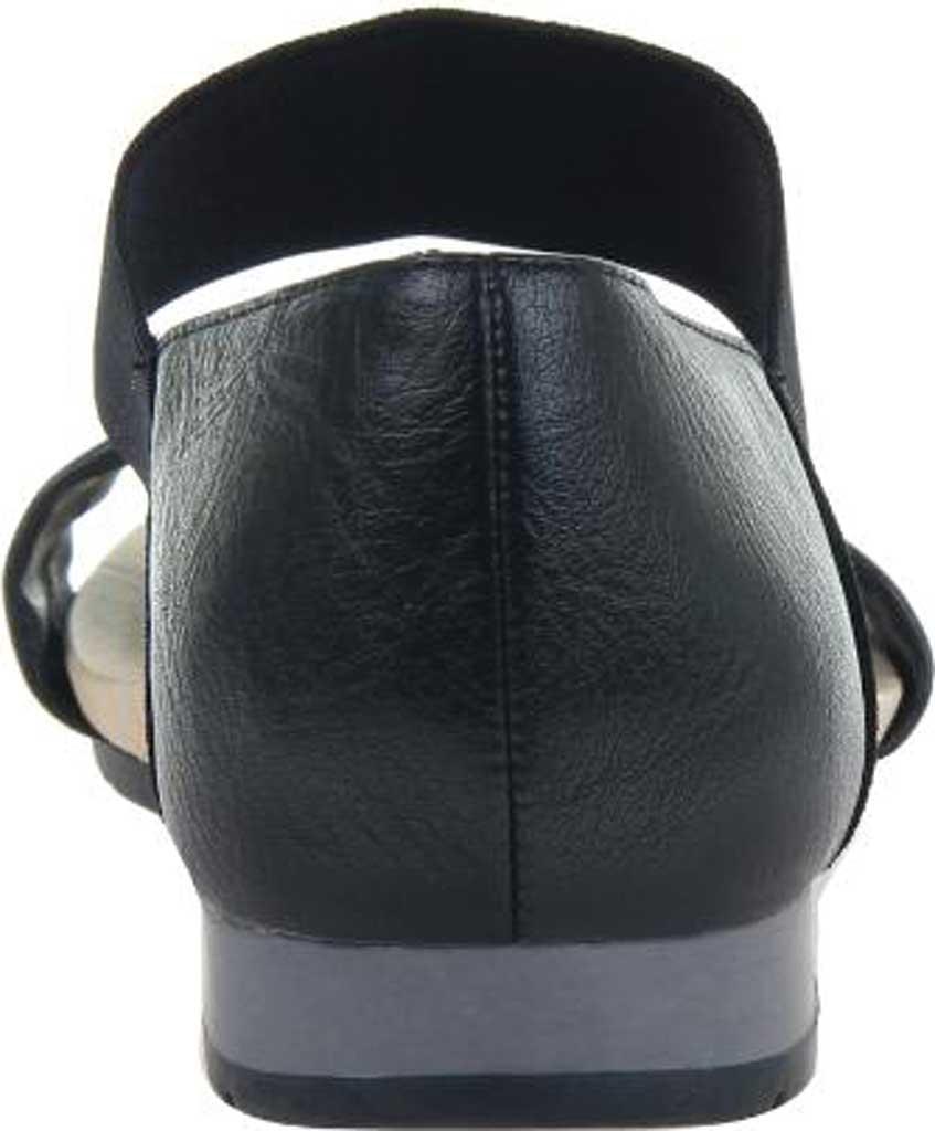 Women's Madeline Motto Double Strap Sandal, Black Synthetic/Textile, large, image 4