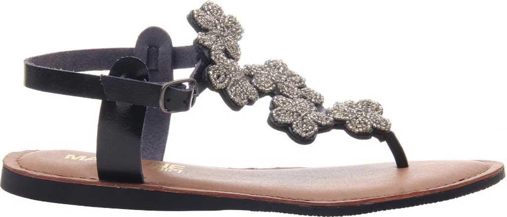 Women's Madeline Lust Thong Sandal, Black Synthetic, large, image 2