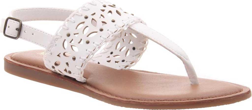 Women's Madeline Icon Thong Sandal, White Synthetic, large, image 1