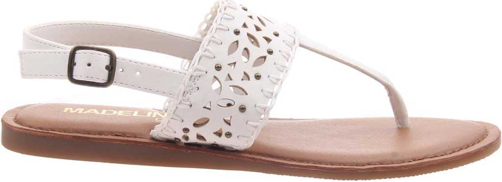 Women's Madeline Icon Thong Sandal, White Synthetic, large, image 2