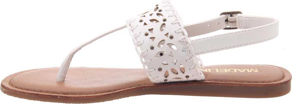 Women's Madeline Icon Thong Sandal, White Synthetic, large, image 3