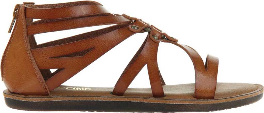 Women's Madeline Woke Flat Sandal, Brown Sugar Synthetic, large, image 2