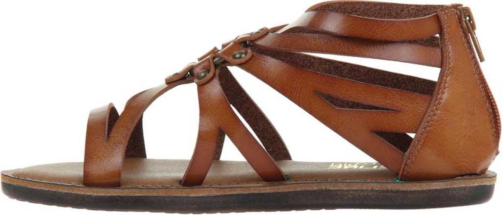 Women's Madeline Woke Flat Sandal, Brown Sugar Synthetic, large, image 3