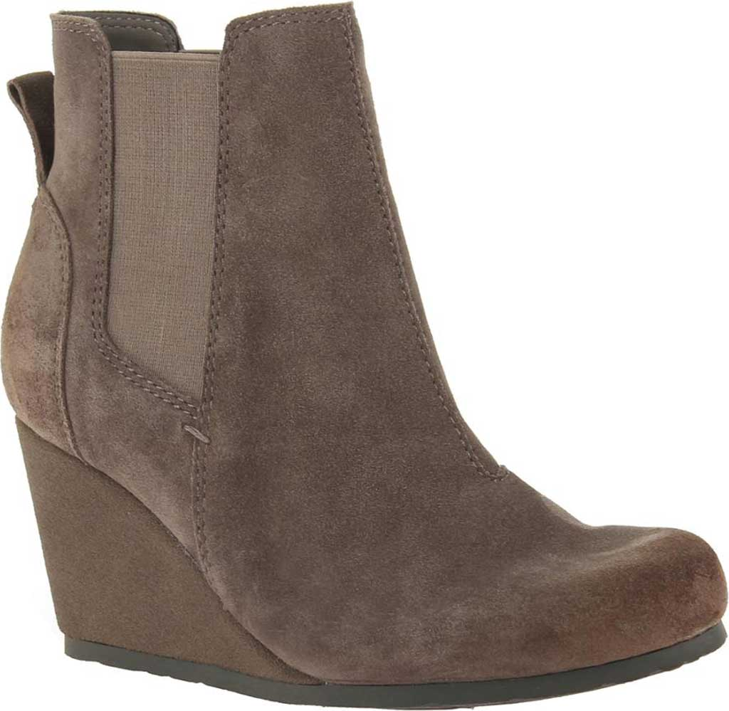 Women's OTBT Dodge Wedge Bootie, Grey Leather, large, image 1