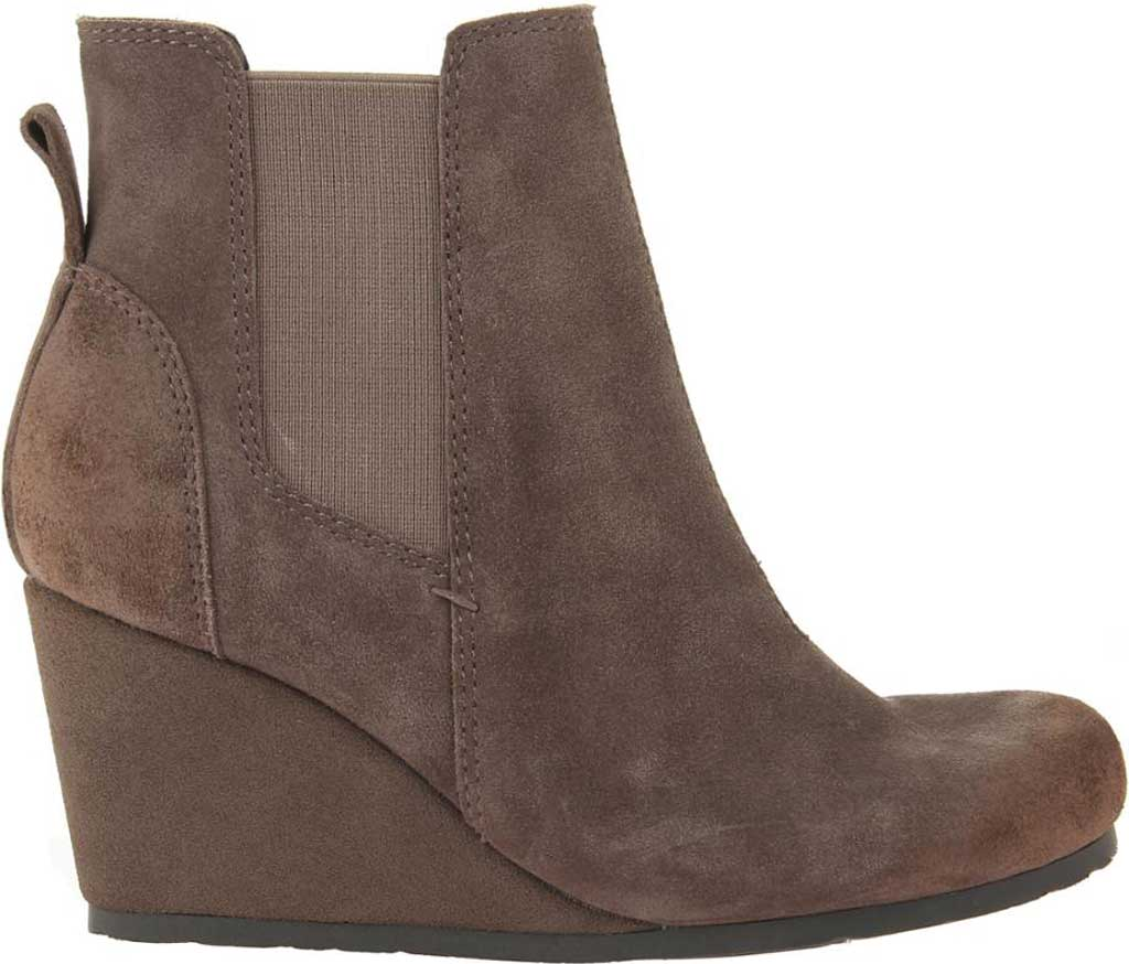 Women's OTBT Dodge Wedge Bootie, Grey Leather, large, image 2