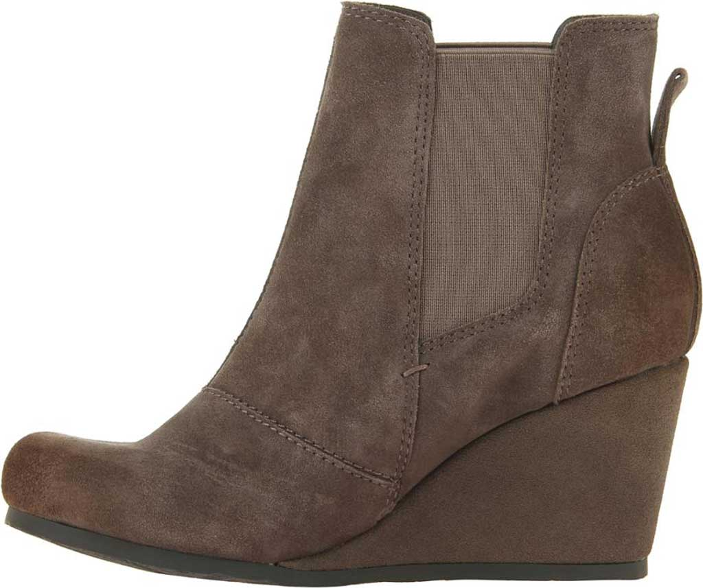 Women's OTBT Dodge Wedge Bootie, Grey Leather, large, image 3