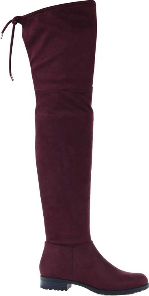 Women's Madeline Folk Tale Over the Knee Boot, Raspberry Textile, large, image 2