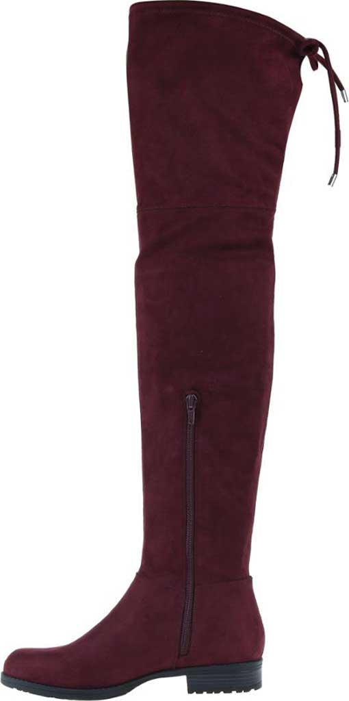 Women's Madeline Folk Tale Over the Knee Boot, Raspberry Textile, large, image 3