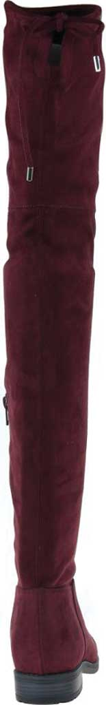 Women's Madeline Folk Tale Over the Knee Boot, Raspberry Textile, large, image 4
