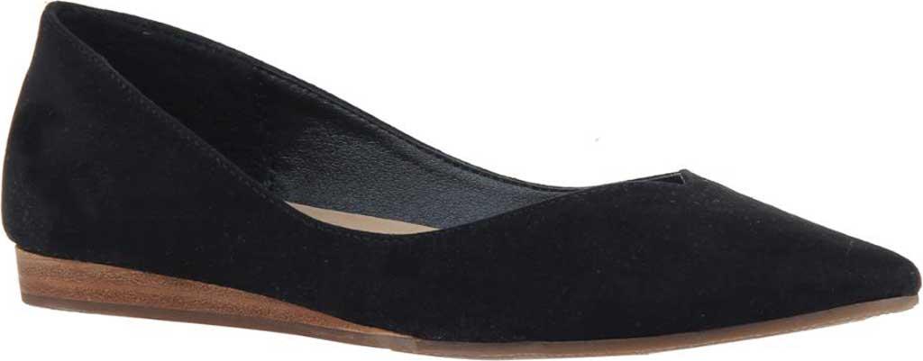 Women's Madeline Dreamlike Pointed Toe Flat, Black Textile, large, image 1