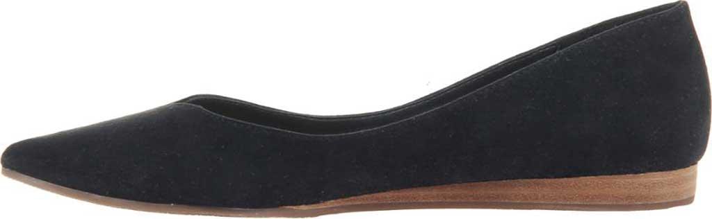 Women's Madeline Dreamlike Pointed Toe Flat, Black Textile, large, image 3