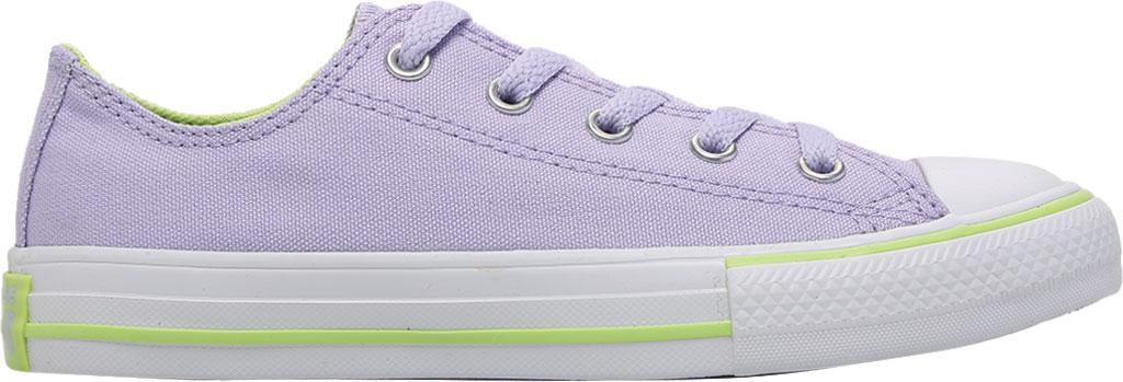 Children's Converse Chuck Taylor Seasonal Canvas Sneaker, Moonstone Violet/Lemongrass Canvas/Fabric, large, image 2