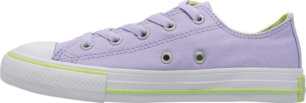 Children's Converse Chuck Taylor Seasonal Canvas Sneaker, Moonstone Violet/Lemongrass Canvas/Fabric, large, image 3