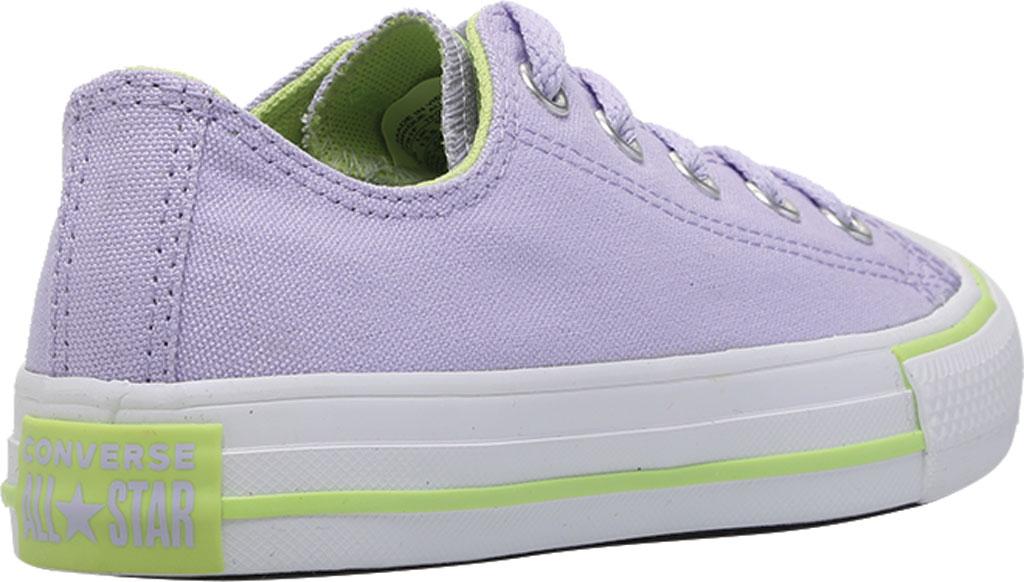 Children's Converse Chuck Taylor Seasonal Canvas Sneaker, Moonstone Violet/Lemongrass Canvas/Fabric, large, image 4