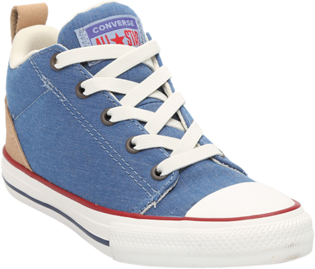Children's Converse Chuck Taylor Ollie Twill Sneaker, Blue Slate/Court Blue Twill/Fabric, large, image 1