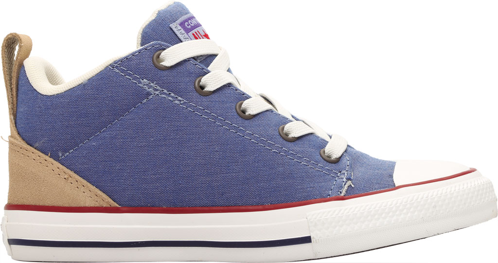 Children's Converse Chuck Taylor Ollie Twill Sneaker, Blue Slate/Court Blue Twill/Fabric, large, image 2