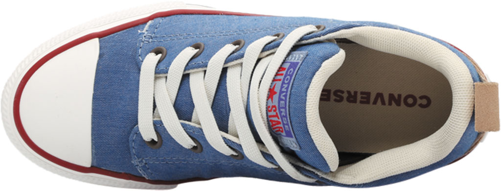 Children's Converse Chuck Taylor Ollie Twill Sneaker, Blue Slate/Court Blue Twill/Fabric, large, image 5