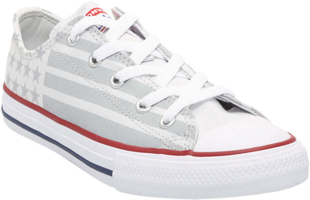 Children's Converse Chuck Taylor Bars & Stripes Canvas Sneaker, Photon Dust/Dolphin/White Canvas/Fabric, large, image 1