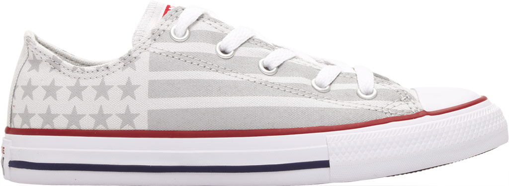 Children's Converse Chuck Taylor Bars & Stripes Canvas Sneaker, Photon Dust/Dolphin/White Canvas/Fabric, large, image 2