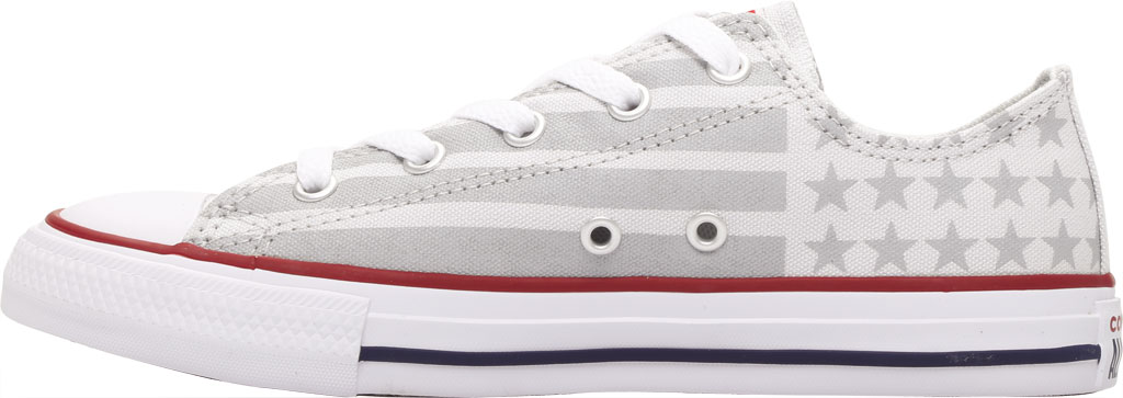Children's Converse Chuck Taylor Bars & Stripes Canvas Sneaker, Photon Dust/Dolphin/White Canvas/Fabric, large, image 3