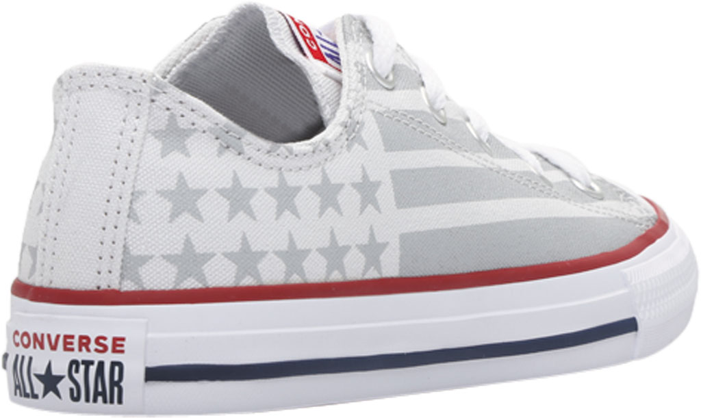 Children's Converse Chuck Taylor Bars & Stripes Canvas Sneaker, Photon Dust/Dolphin/White Canvas/Fabric, large, image 4