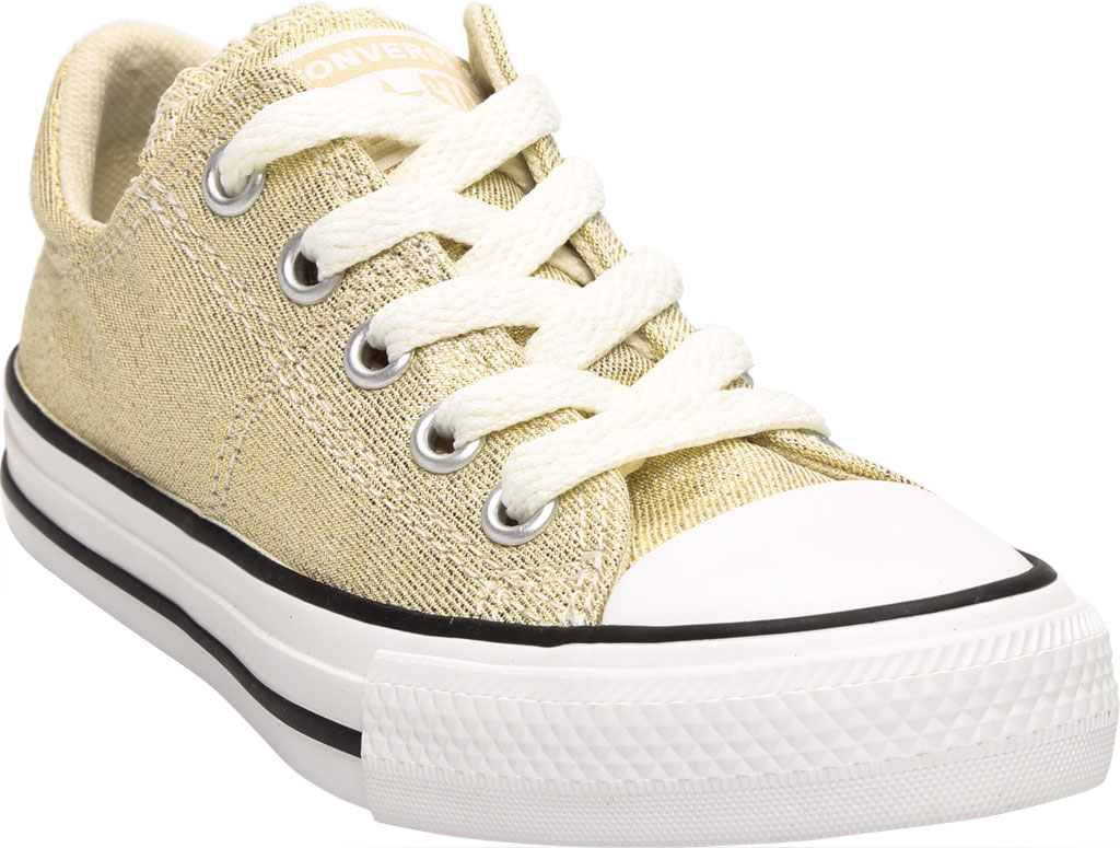 Children's Converse Chuck Taylor Glitter Madison Textile Sneaker, Egret/Orange Calcite Glitter Textile/Fabric, large, image 1
