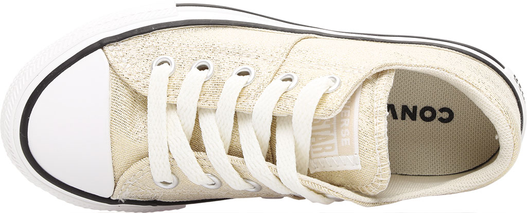 Children's Converse Chuck Taylor Glitter Madison Textile Sneaker, Egret/Orange Calcite Glitter Textile/Fabric, large, image 5