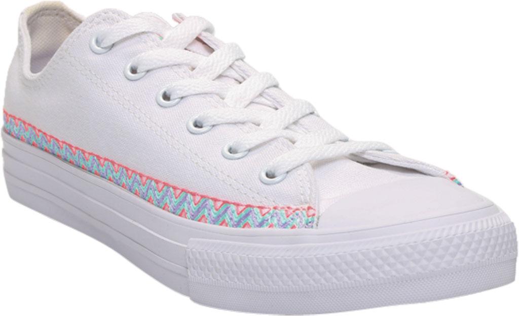 Children's Converse Chuck Taylor Friendship Canvas Sneaker, White/Moonstone Violet/White Canvas/Fabric, large, image 1