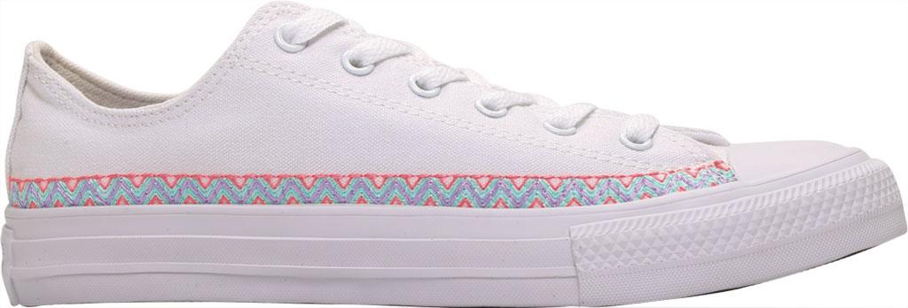 Children's Converse Chuck Taylor Friendship Canvas Sneaker, White/Moonstone Violet/White Canvas/Fabric, large, image 2