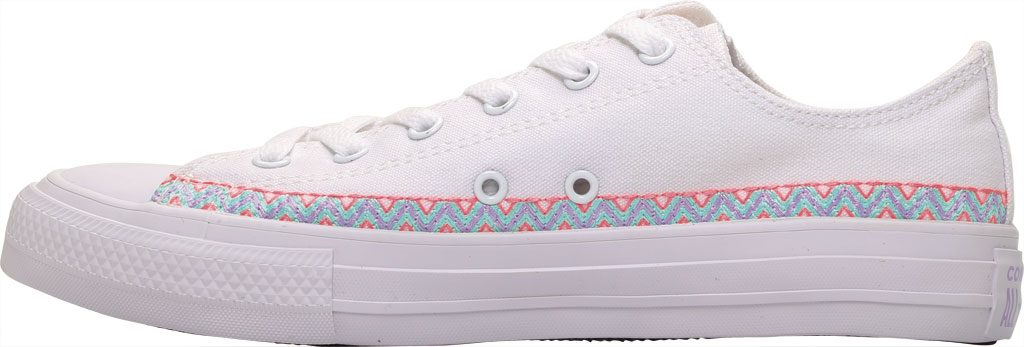 Children's Converse Chuck Taylor Friendship Canvas Sneaker, White/Moonstone Violet/White Canvas/Fabric, large, image 3