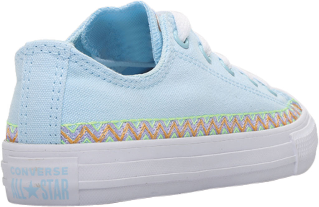 Children's Converse Chuck Taylor Friendship Canvas Sneaker, Agate Blue/Moonstone Violet Canvas/Fabric, large, image 4
