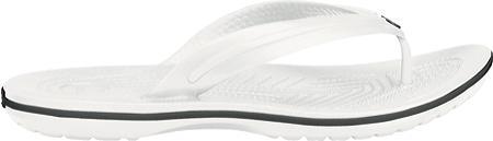 Crocs Crocband Flip Sandal, White, large, image 2