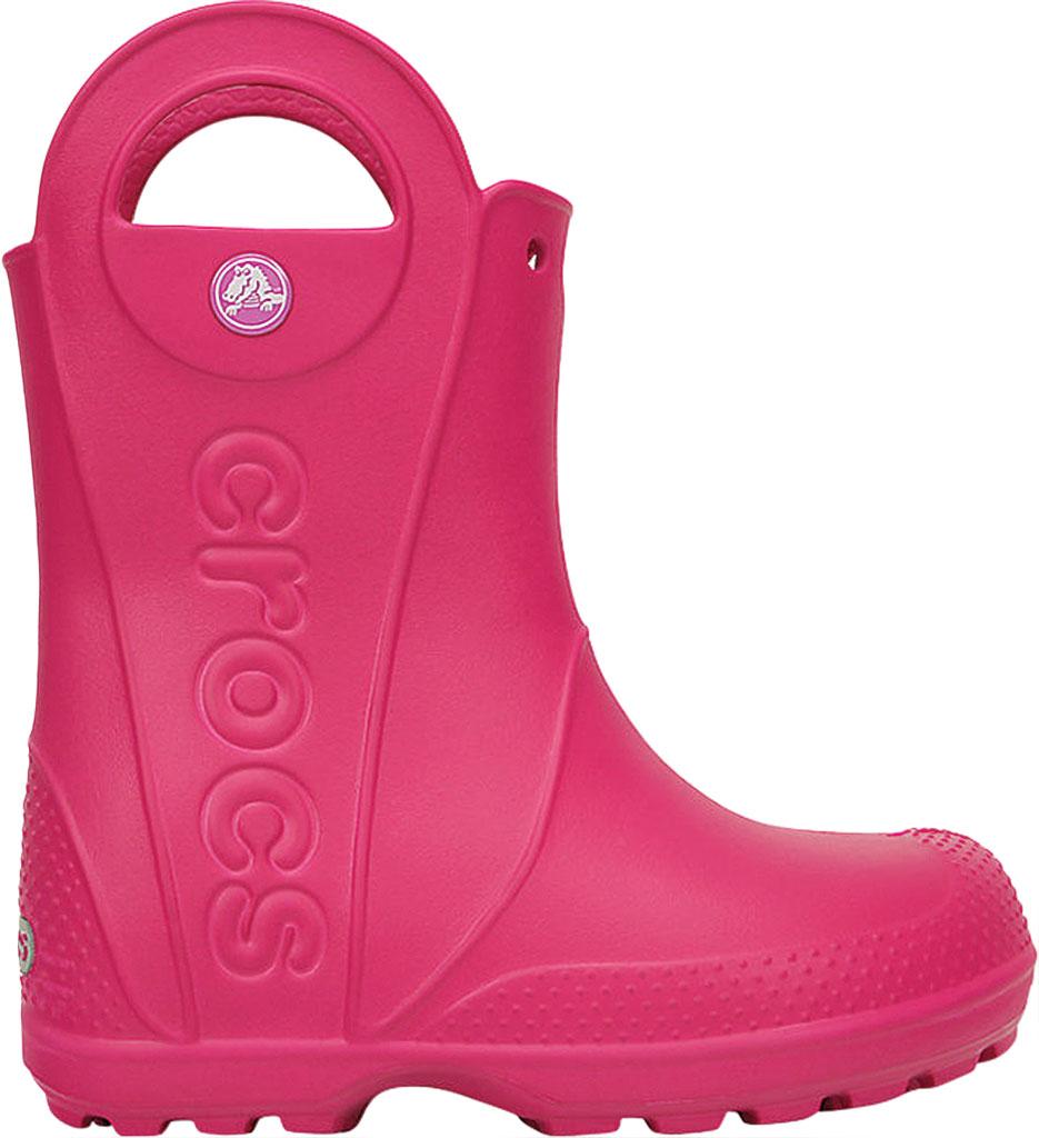 Infant Crocs Handle It Rain Boot Child, Candy Pink, large, image 2