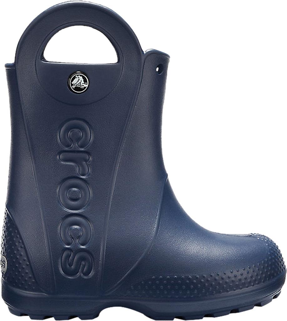 Infant Crocs Handle It Rain Boot Child, Navy, large, image 2